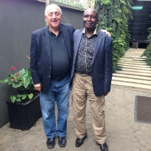 Dr. Hrach Gregorian and Joseph Karuga, National Chairman of the Kenya Head Teachers Association (KEPSHA)